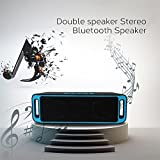 huoaoqiyegu - Portable Bluetooth Speaker,Super Bass Hi-Quality Sound,Crystal Clear Stereo Sound,FM MP3 Speaker Recharge,Dual-Driver Built-in Mic for Party, Travel, Outdoor, Backyard