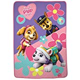 Nickelodeon Paw Patrol Super Soft Plush Microfiber Kids Bedding Blanket, Twin/Full Size 62' x 90', Pink/Purple