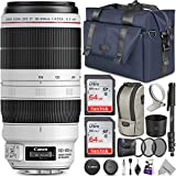 Canon EF 100-400mm f/4.5-5.6L is II USM Lens w/Advanced Photo and Travel Bundle - Includes: Altura Photo Backpack, UV-CPL-ND4, Monopod and 2pcs SanDisk 64gb SD Card