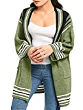 Product review of Rotita Women Striped Open Front Sweater Cardigans Plus Size Long Sleeve Knit Oversized Pointelle Pullover