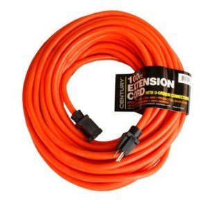Century Contractor Grade 100 Feet 10 Gauge Power Extension Cord 10/3 Plug