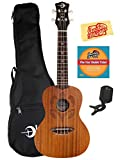 Luna Honu Mahogany Concert Ukulele Bundle with Gig Bag,...