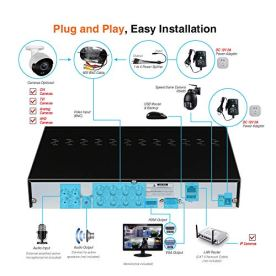 LONNKY-Home-Security-Camera-System-Outdoor8-Channel-Full-HD-5-in-1-1080P-DVR-Recorder-with-1TB-HDD6PCS-2MP-Bullet-CameraSmart-Motion-DetectionHeat-PIR-SensorFree-App-AccessEasy-Installation