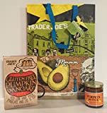 Gluten Free Trader Joe's Pumpkin Pancake Mix & TJ's Pumpkin Butter a TJ's Reusable Southern California Grocery Tote Plus A Bonus Free Organic Sweet Coffee Recipe from Z-Organics Bundle (4items)