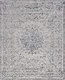 Unique Loom Aberdeen Collection Textured Traditional Vintage Tone-on-Tone Gray Area Rug (8' x 10')