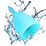 Menstrual Cup - Designed for Your Active Lifestyle, Personal Comfort & Menstrual Protection - Best FDA Approved Disposable Period Cup -- Ideal Pre or Post Childbirth - (One Size)