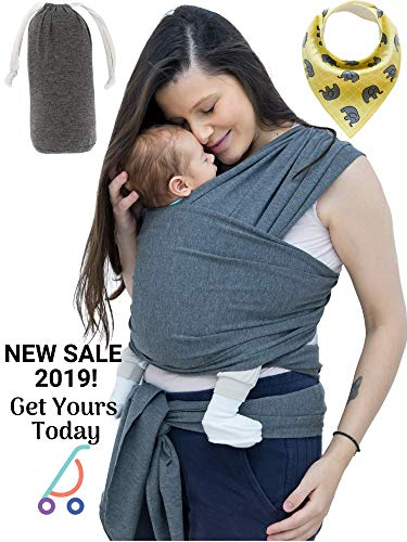Unisex Fular Baby Carrier Sling - Forward Facing Ergonomic Baby Carrier Wraps for Moms and Dads Body and Chest Adjustable Size for a Newborn or Toddler – Great GlFT – Bonus Bandana Bib