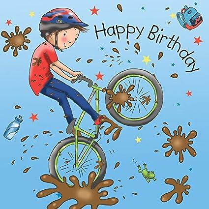 Twizler Happy Birthday Card With Mountain Bike Boys Birthday Card Happy Birthday Card Boy Birthday Card