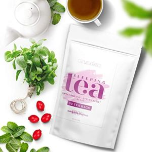 SLEEPING TEA – 30 Tea Bags, Tea for Sweet Dreams, Stress Relief and Relax, Calm Your Nerves & Enjoy Healthy Deep Sleep…