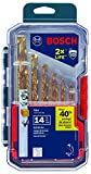 Bosch TI14 Titanium Metal Drill Bit Set (14 Piece)