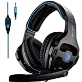 SADES SA810 New Version Xbox One Gaming Headset Headphones with Microphone and PC Adapter for PS4/PlayStation 4 Laptop Mac