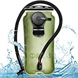 Leader Accessories Hydration Bladder Green 3 Liter Water Reservoir Water Bladder Hydration Pack Bladder FDA Approved Tasteless and BPA-Free TPU Material Large Opening Quick Release Tube (3L)