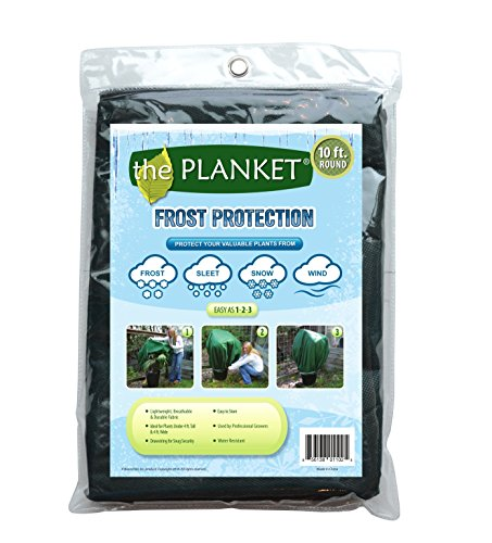 the Planket Frost Protection Plant Cover, 10 ft Round