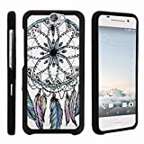 TurtleArmor | Compatible with HTC One A9 Case | HTC Aero Case [Slim Duo] Two Piece Hard Cover Slim Snap On Case on Black - Dreamcatcher Feathers