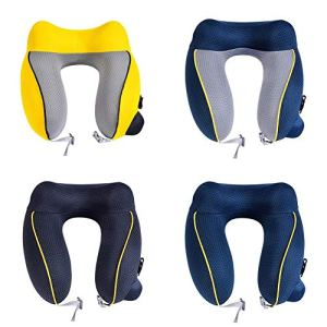 Roche.Z Inflatable Travel Pillow, Press The Inflatable Pillow Press The U-Shaped Pillow Press The U-Shaped Inflatable Pillow Travel Neck Pillow 51CzNnijryL