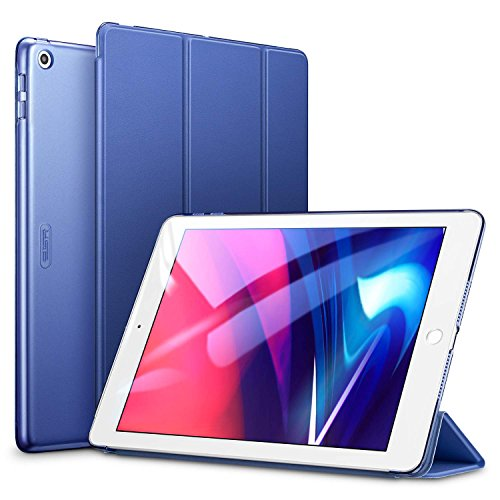ESR Yippee Trifold Smart Case for iPad 9.7 2018/2017, Lightweight Smart Cover with Auto Sleep/Wake, Microfiber Lining, Hard Back Cover for iPad 9.7 iPad 5th / 6th Generation, Navy Blue