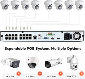 ONWOTE-16-Channel-4K-PoE-Security-Camera-System-4TB-Hard-Drive-16CH-8MP-H265-NVR-8-Outdoor-4K-Dome-PoE-IP-Cameras-247-Video-Audio-Recording-Wired-Home-Business-Surveillance-Kit