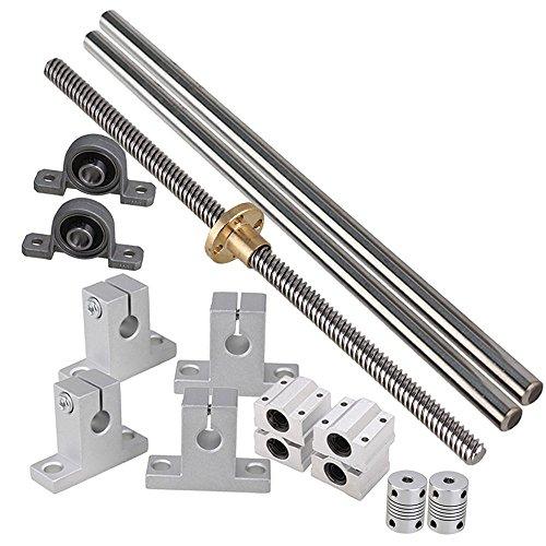 Industrial-CombinationIdeaker-200mm-Horizontal-Optical-Axis-8mm-Lead-Screw-Dual-Rail-Shaft-Support-Pillow-Block-Bearings-Flexible-Shaft-Coupling-Set-of-15