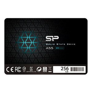 Silicon Power 256GB SSD 3D NAND A55 SLC Cache Performance Boost SATA III 2.5″ 7mm (0.28″) Internal Solid State Drive (SP256GBSS3A55S25)