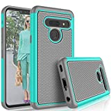 LG G8 Case, 2019 LG G8 ThinQ Cute Case, Tekcoo [Tmajor] Hybrid Solid Shock Absorbing [Turquoise] Rubber Silicone & Plastic Scratch Resistant Bumper Grip Rugged Sturdy Hard Phone Cases Cover