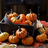 Factory Direct Craft Realistic Fall Mini Artificial Pumpkins - Package of 16 Pumpkins ...