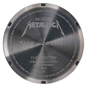 Nixon Men's Sentry Leather Metallica Collection - Seek & Destroy Black/Seek & Destroy One Size