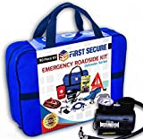 Car Emergency Kit First Aid Kit - Premium, Heavy Duty Car Roadside Emergency Kit - Jumper Cables, Portable Air Compressor, Tow Strap, Tire Pressure Gauge, Headlamp - Car Accessories for Women and Men