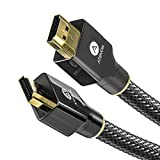 4K HDMI Cable 10 FT - Atevon High Speed 18Gbps HDMI 2.0 Cable - HDCP 2.2-4K HDR, 3D, UHD 2160P, 1080P, Ethernet - 28AWG Braided HDMI Cord - Audio Return Compatible TV, Roku, PC, Xbox, PS4, Fire TV