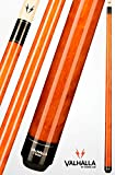 Viking Valhalla 2 Piece Pool Cue Stick VA109 (18oz, Autumn Orange)