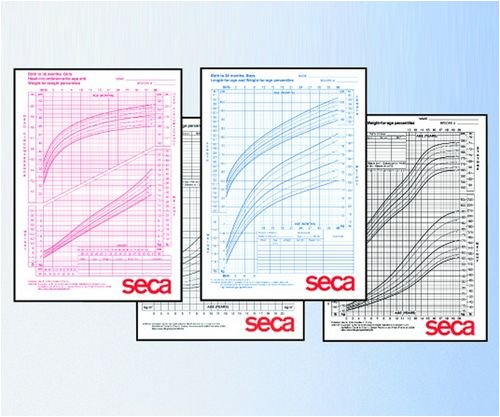 2-20 years Seca 406B Growth Charts-Boys pack of 100