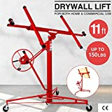 Drywall Lift Panel 11' Lift Drywall Panel Hoist Jack Lifter Jack Rolling Caster Wheel Sheetrock Drywall Lift Construction Tools