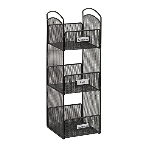 Safco Products 3290BL Onyx Mesh Tower Break Room Organizer, Black