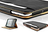 New S-Tech Apple iPad Air 1st Generation (2014 Model) Smart Cover Black Soft Leather Wallet Sleep/Wake Flip Folio Case iPad Air Models A1474 / A1474