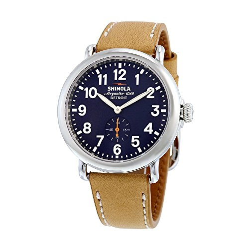 Shinola Detroit Unisex The Runwell 41mm - 10000144 Midnight Blue/Natural