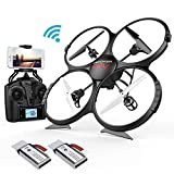 DBPOWER Drone U818A Discovery FPV WiFi Drones with Camera for Beginners/Kids/Teens,Quadcopter UAV with Altitude Hold/Headless Mode /3D Flips& 2 Batteries, Big Size