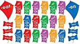 Scholastic Teacher's Friend Word Families Kites Mini Bulletin Board, Multiple Colors (TF8089)