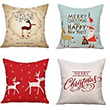 NATURALSHOW Throw Pillow Covers Set of 4 Decorative Pillowcase Covers Cushion Case 18