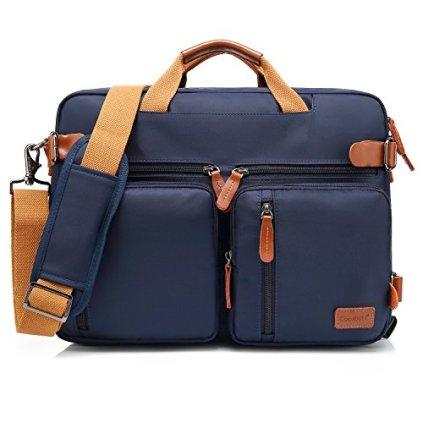 CoolBELL-Convertible-Backpack-Messenger-Bag-Shoulder-Bag-Laptop-Case-Handbag-Business-Briefcase-Multi-Functional-Travel-Rucksack-Fits-173-Inch-Laptop-for-MenWomen-Blue