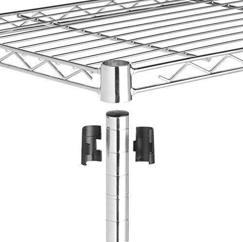 Amazon Basics 5-Shelf Adjustable, Heavy Duty Storage Shelving Unit (350 lbs loading capacity per shelf), Steel Organizer Wire Rack, Chrome, (36L x 14W x 72H)