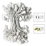 C7 Stringer - 25 Foot - 25 Sockets - 12 in. Spacing - White Wire - Commercial Christmas Lights - HLS C725W