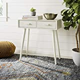 Safavieh COF5701A Home Collection Dean Distressed White 2 Drawer Console Table, Antique