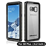 UBeesize Waterproof case for Samsung S8 Plus, Transparent Shockproof Underwater Cover Full Body Protective Drop Resistant Heavy Duty Case for Samsung Galaxy S8 Plus