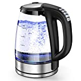 HadinEEon Variable Temperature Electric Kettle, 1500W Electric Tea Kettle, 10 Big Cups 2.0L Glass Water Boiler with 12Hrs Keep Warm Function & Boil-Dry Protection, Cordless Tea Kettle Electric