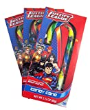 Justice League Large Christmas Candy Cane, 2.12 oz, Pack of 3