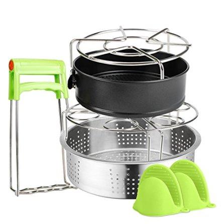 6-PACKS-Instant-Pot-Accessories-Steamer-Basket-Steamer-Sets-Steamer-Base-Springform-Pan-Egg-Steamer-Rack-Silicone-Oven-Mitts-Plate-Dish-Clip-for-Pressure-Cooker-Cooking-Pot-Steamer-Pot-Pan-4-5-6-8-qt