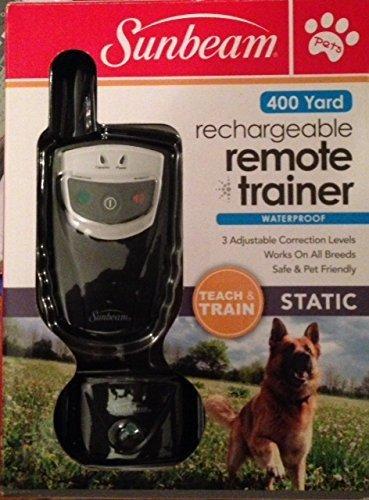 Sunbeam Rechargeable Remote Trainer 400 Yard Waterproof Teach & Train Static