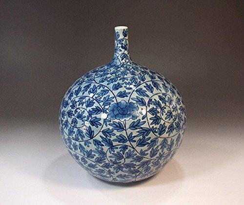 Arita - Imari pottery vase - arabesque peony   gifts   Gifts   souvenir   gift   potter Fujii NishikiAya