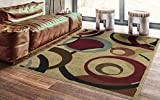 Ottomanson Royal Collection Area Rug, Beige Circles