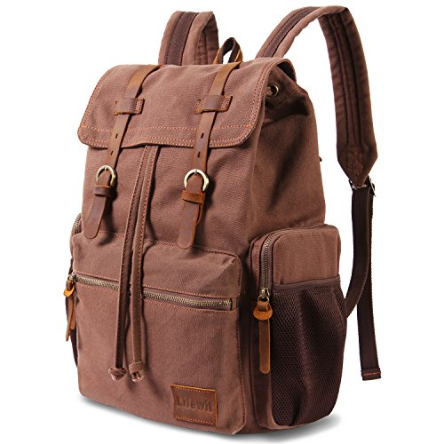 Lifewit 17 Inch Canvas Laptop Backpack