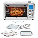 Emeril Lagasse Power Air Fryer 360 Better Than Convection Ovens   Hot Air Fryer Oven, Toaster Oven, Bake, Broil, Slow Cook & More Food Dehydrator, Rotisserie Spit, Pizza Function Cookbook Included Stainless Steel